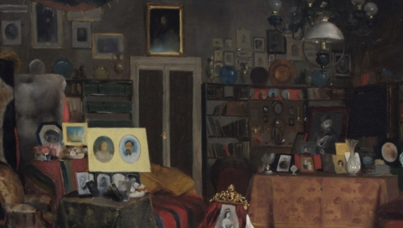 Painting of Sir Richard Burton's sitting room by Albert Letchford