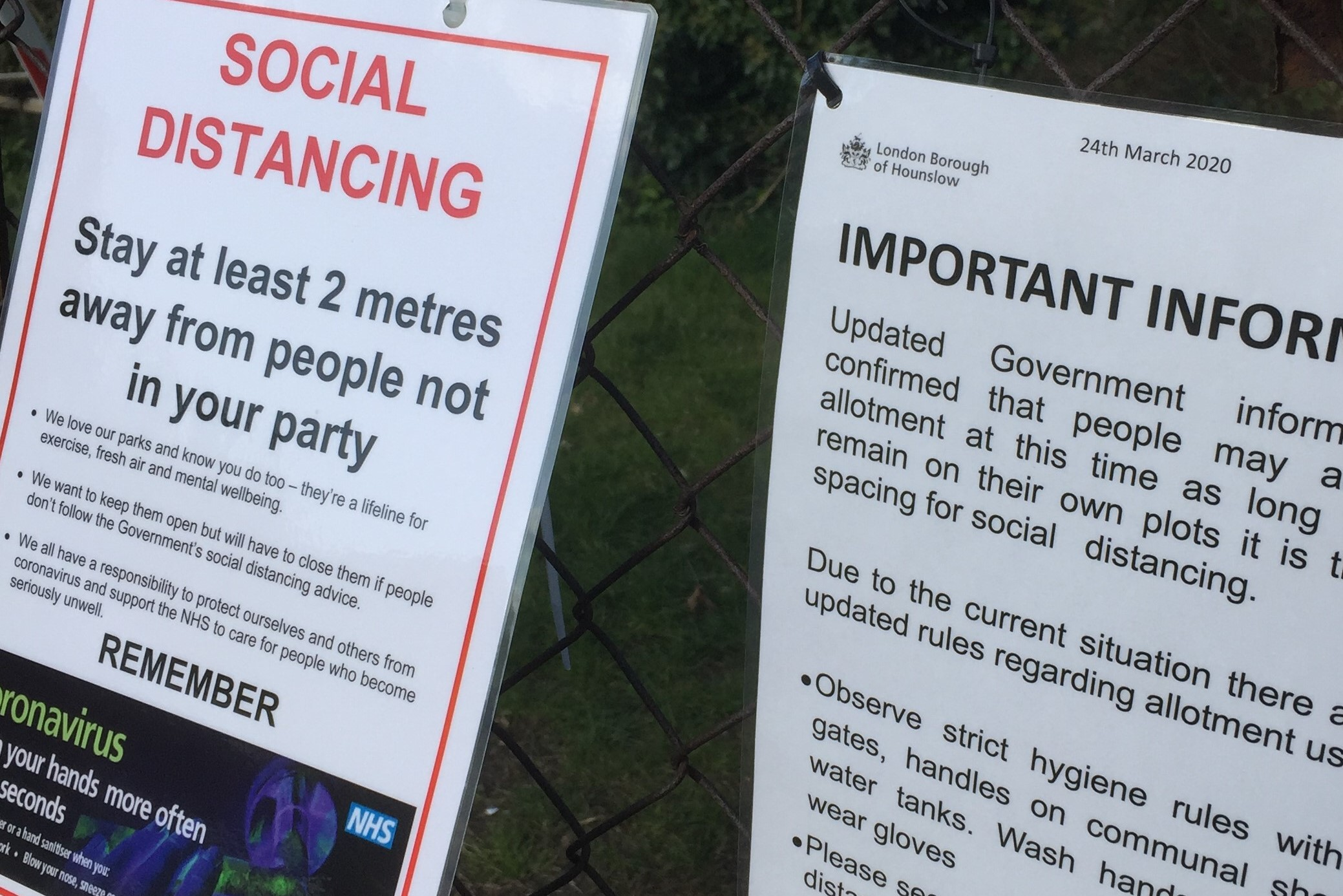 Social Distancing Messages